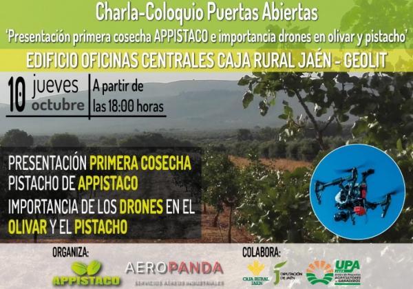 Charla-Coloquio 'Presentación primera cosecha APPISTACO e importancia drones en olivar y pistacho'